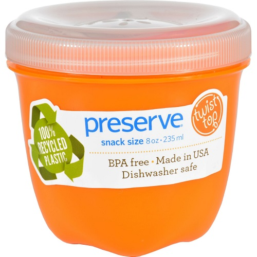Preserve Food Storage Container Orange 8Oz (12X1 Ct)
