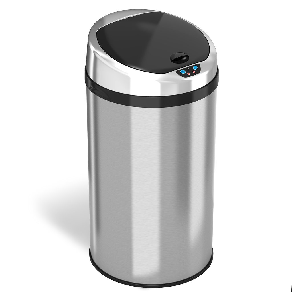 iTouchless 8 Gal. Automatic Stainless Steel Touchless Trash Can NX