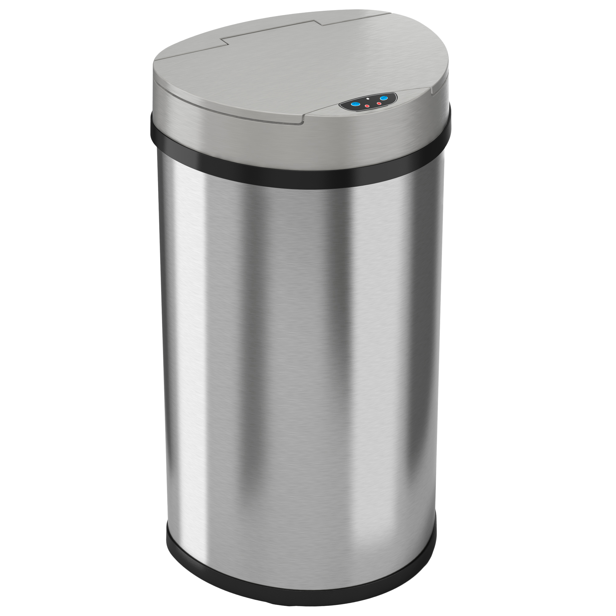 iTouchless 13 Gallon Semi-Round Extra-Wide Opening Touchless Trash Can HX