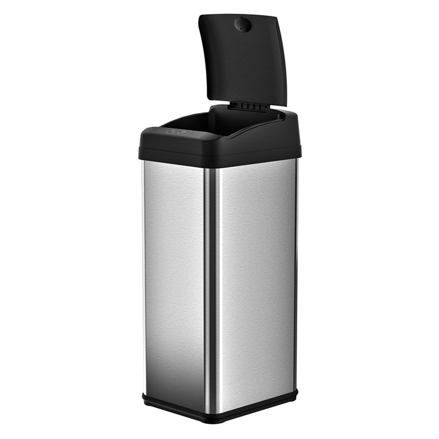 iTouchless 13 Gallon Square Extra-Wide Opening Touchless Trash Can MX