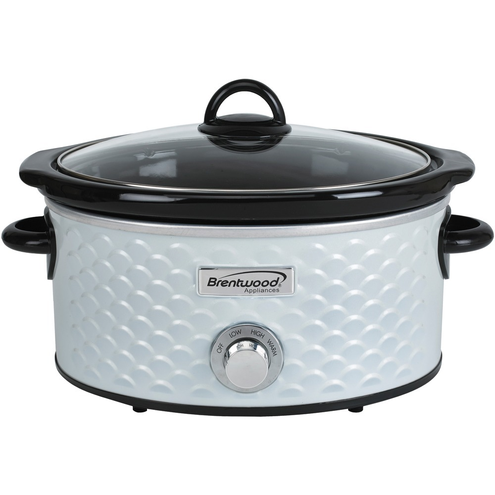Brentwood Appliances 4.5-quart Scallop Pattern Slow Cooker