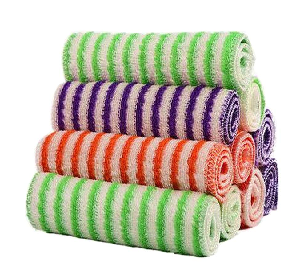[Stripe] Set of 10 Kitchen Dish Towels Dish Cloths Absorbent Kitchen Towels