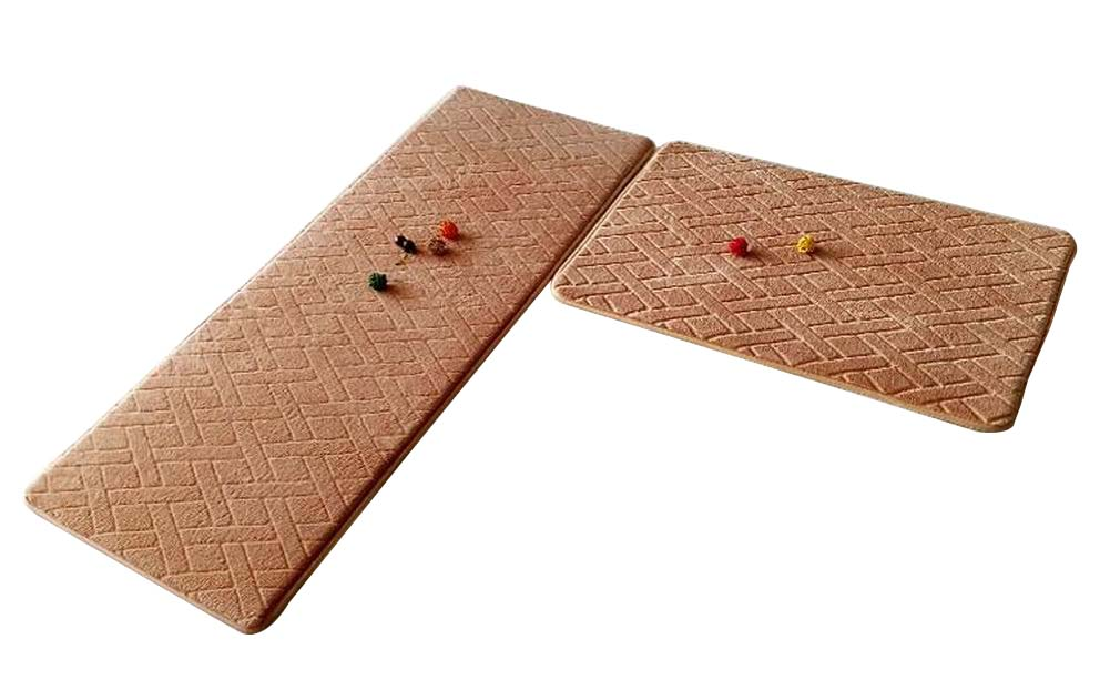 [J] 2 Pcs Absorbent Non-Slip Kitchen Rugs Kitchen Floor Mats