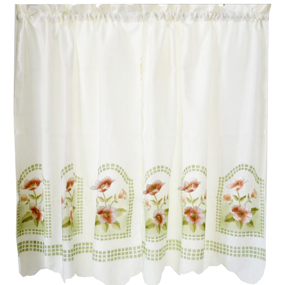 Sweet Embroidered Curtain Kitchen Curtain Coffee Screens- 01