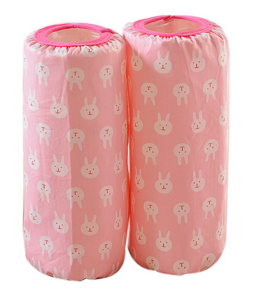 Cute Children's Cotton Long Waterproof Sleeves, Pink Bottom And Bunnies