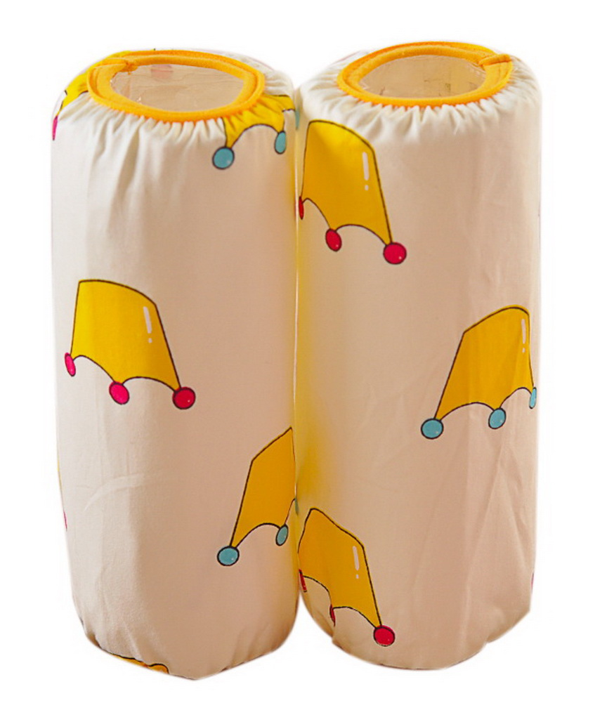 Cute Children's Cotton Long Waterproof Sleeves, Beige Bottom And Crowns