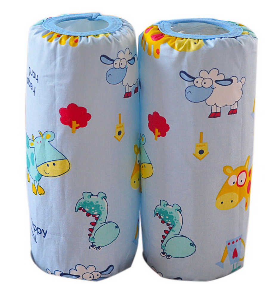 Cute Children's Cotton Long Waterproof Sleeves, Blue Bottom And Cartoon Animals