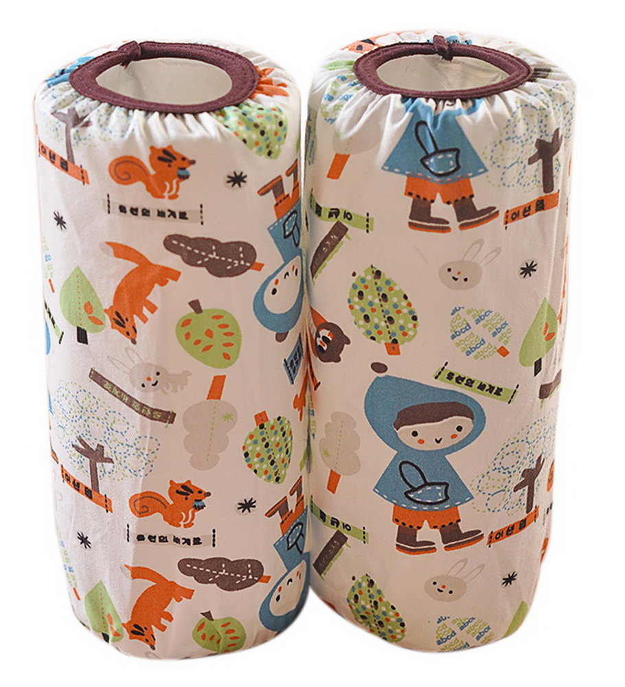 Cute Children's Cotton Long Waterproof Sleeves, Cartoon Foxes And Kids